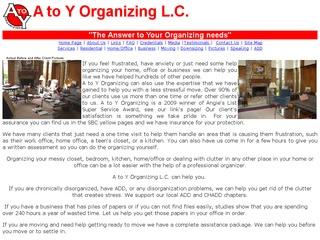 A to Y Organizing
