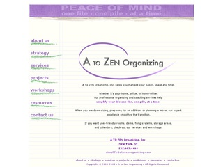 A to Zen Organizing