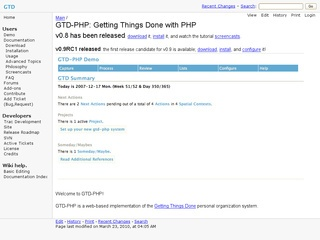 GTD-PHP: Getting Things Done with PHP
