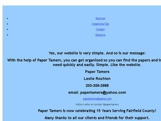 Paper Tamers